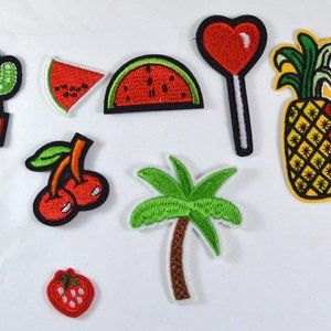 8pc Fruit Fun Variety Iron On Patch Applique AF010